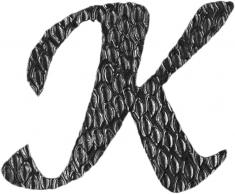 Lettre K en fer forgé