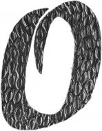 Lettre O en fer forgé