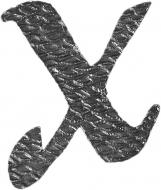 Lettre X en fer forgé