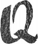 Lettre Q en fer forgé