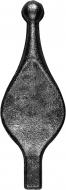 Pointe de lance carré de 14 en fer forgé