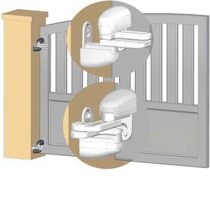 Gond réglable Modulo pour portail en pente - blanc