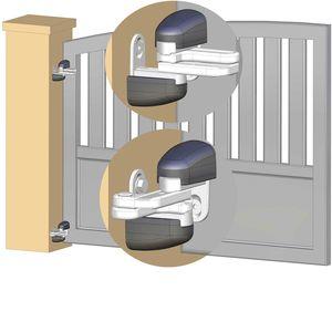 Gond réglable Modulo pour portail en pente - Noir