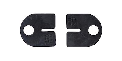 Caoutchouc verre 12.76mm série ronde angle de 64mm