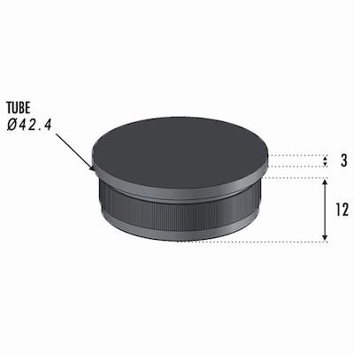 Finition Plate pour Tube Ø42.4 ép 2mm