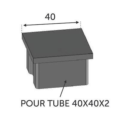 Finition Plate Tube carré 40x40 ép 2mm