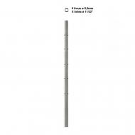 Poteau H1500 inox 316 avec 5 trous traversants Ø 8,5