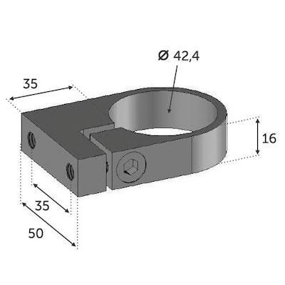Anneau de serrage tube 42.4 - INOX 304