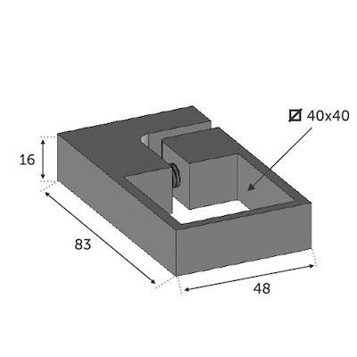 Anneau de serrage tube 40x40