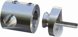 Connecteur perçage Ø12 pour tube Ø48,3