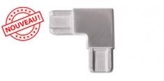 Raccord 90° pour profil rectangle 18x12 - INOX 304