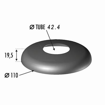 Cache platine pour Tube Ø42.4