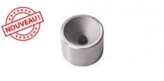 Plot inox 316 fileté M12 pour tube 42.4 epaisseur 2