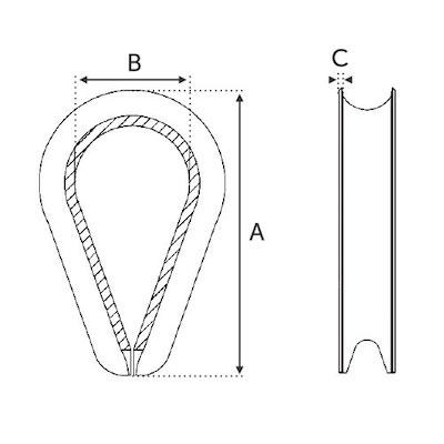 Anneau cable 4mm
