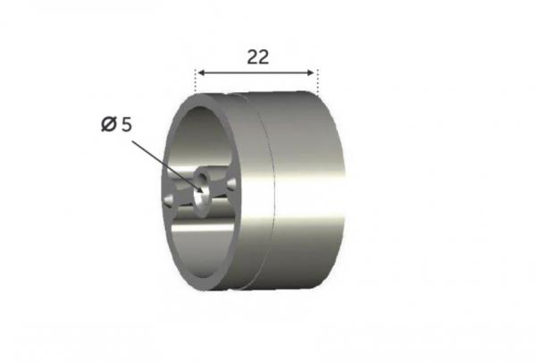 Réduction connecteur Inox pour main courante bois