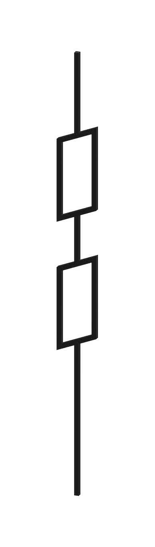 Barreau design carré de 12