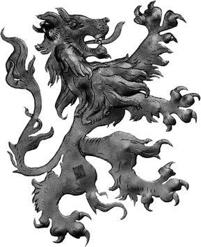 Lion médiéval type droite