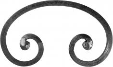 Volute Forme C 250x150mm carré de 12