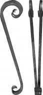 Double volutes pour pieds de chaise 420X100