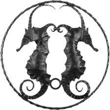 Hippocampe en fer forgé
