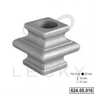Garniture à souder pour barreaux rond 20 mm