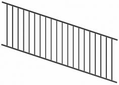 Panneau incliné et réglable pour rampe long 2387mm