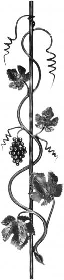 Barreau Raisins 1000x200 - Droite