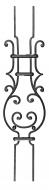 Panneau décor volutes finition noyaux