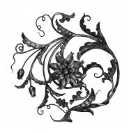 Panneau floral Ø 675 - Gauche