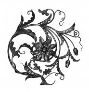 Panneau floral Ø 675 - Droite
