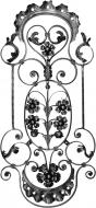 Panneau décors fleurs et volutes feuilles