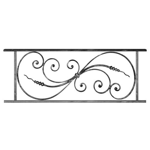 Modèles d\'<b>Appuis de fenêtre</b> en fer forgé, que nous pouvons réaliser à vos mesures.
