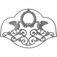 Décor Aigles sur couronne