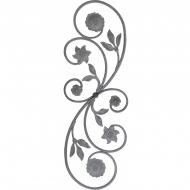 Panneau élément florale en acier moulé