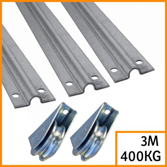 Kit pour portail coulissant rails 3x2M