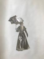 Arlésienne avec ombrelle en acier