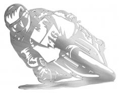 Décor métal Motard 46 Rossi