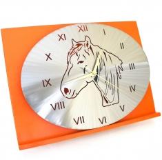 Pendule Tète de cheval Camargue ovale