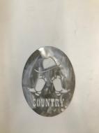 Décor plaque country en acier